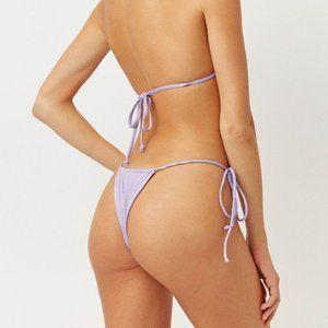 NWT!! FRANKIES BIKINIS Theo Bottom-Lilac Shimmer